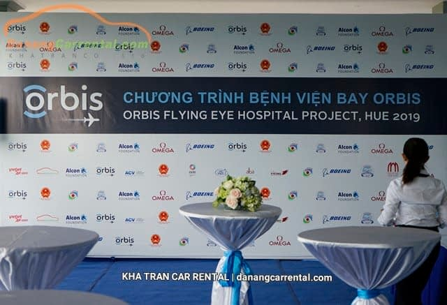 Kha Tran Car Rental - The main sponsor of Orbis for transportation