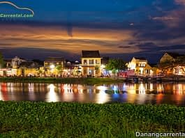 Hoi An travel guidebook at night