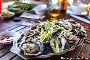 fresh seafood lang co beach