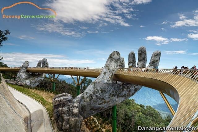 golden bridge on ba na hills da nang vietnam