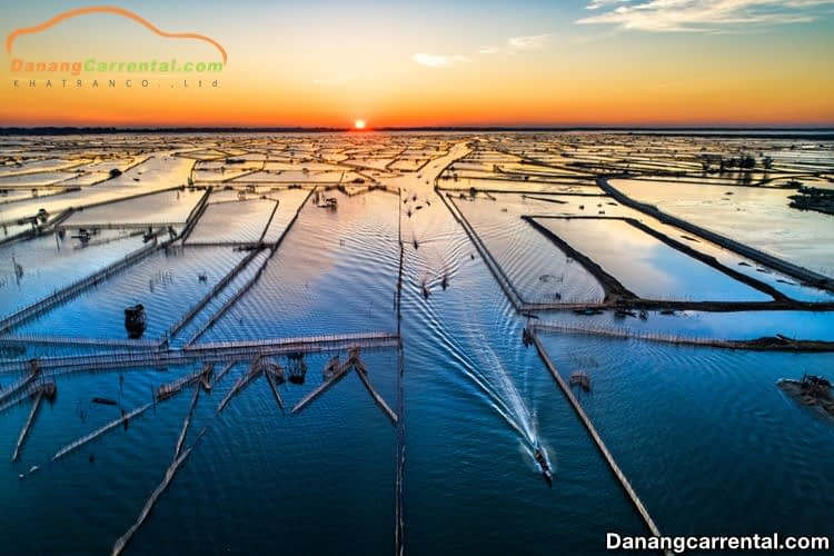 Sunset in Tam Giang lagoon